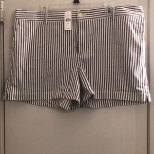 Loft Blue striped shorts